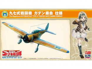HASEGAWA MAQUETTE 52230 Escadron Kotobuki dans le désert: les filles dans le ciel! Type 97 Fighter Gaden Shokai 1/48
