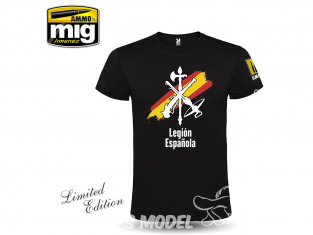 MIG T-Shirt 8054M T-shirt Legion Espanola Retro taille M