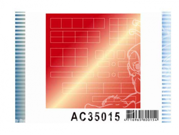 AFV maquette militaire ac35015 STICKERS pour la simulation anti reflets Chars LEOPARD I 1/35