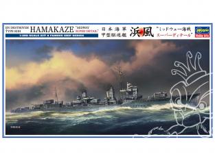 HASEGAWA maquette bateau 40101 Destroyer IJN Hamakaze Super détail de la bataille de Midway 1/350