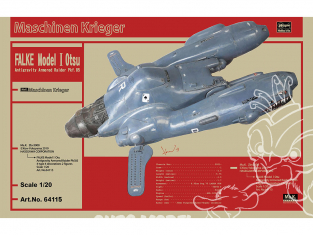 HASEGAWA maquette espace 64115 Chasseur blindé anti-gravité Pkf.85 Falke Type I 1/20