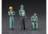 Hasegawa maquette travaux public 66006 Travailleur de travaux public Set B Break trois ensembles et accessoires 1/35