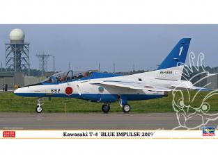Hasegawa maquette avion 07480 Kawasaki T-4 Blue Impulse 2019 1/48