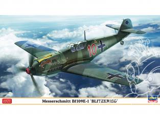 Hasegawa maquette avion 07478 Messerschmitt Bf109E-1 Blitzkrieg 1/48