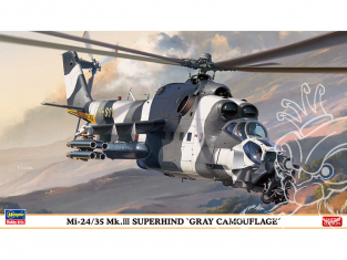 Hasegawa maquette Helicoptére 02297 Mi-24/35 Mk.III Super Hind Camouflage gris 1/72