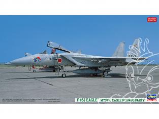 HASEGAWA maquette avion 02301 F-15J Eagle Mystic Eagle IV 204SQ Partie 2 1/72
