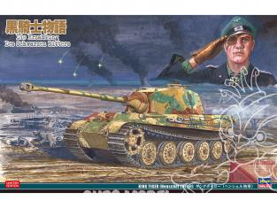 """Hasegawa maquette militaire 52195 """"L'histoire du chevalier noir"""" King Tiger (tourelle Henschel) 1/35"""