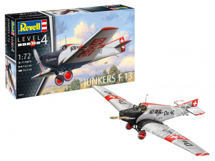 Revell maquette avion 63870 Model Set Junkers F.13 inclus colle te peintures 1/72