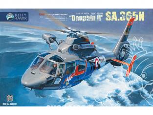 Kitty Hawk maquette hélicoptère kh80107 Dauphin II SA.365N 1/48