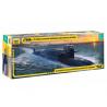 Zvezda maquette sous marin 9062 Sous-marin nucléaire Tula du projet Delfin (delta IV) 1/350