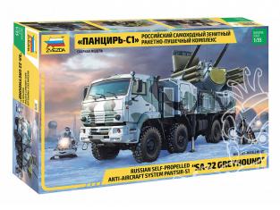 Zvezda maquette militaire 3698 Pantsir S-1 SA-22 Greyhound 1/35