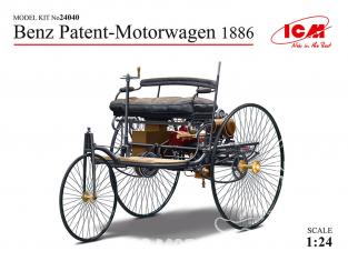 Icm maquette voiture 24040 Benz Patent-Motorwagen 1886 (100% nouveau moule) 1/24