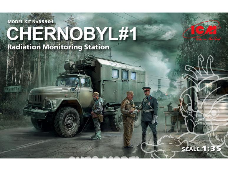 Icm maquette militaire 35901 Diorama Tchernobyl n°1 1/35