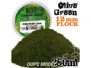 Green Stuff 504477 Herbe Statique 12mm Vert Olive 280ml