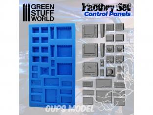Green Stuff 504514 MOULES en Silicone Panneaux de Contrôle