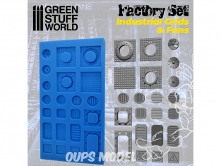 Green Stuff 504521 MOULES en Silicone Grilles et Ventilateurs