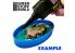 Green Stuff 504996 6x Moules Endiguement pour Socles Ronds