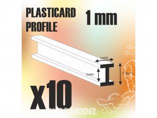 Green Stuff 505467 Plasticard PROFILÉ H 1 mm