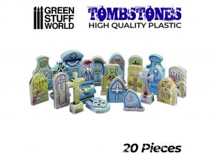 Green Stuff 505481 20x Pierres Tombales en Plastique
