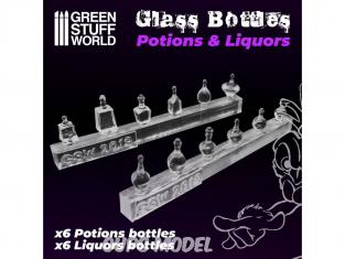 Green Stuff 505603 Bouteilles de Potions et Liqueurs en résine