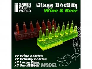 Green Stuff 505597 Bouteilles de Bière et de Vin en résine