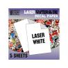 Green Stuff 10069 5 feuilles Decalcomanies a l'eau Blanc pour imprimante Laser