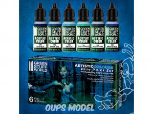 Green Stuff 506150 Artist Colours Set Peinture Bleus