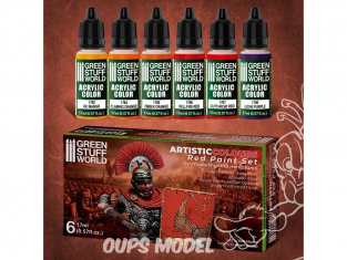 Green Stuff 506174 Artist Colours Set Peinture Rouge