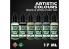 Green Stuff 506228 Artist Colours Set Peinture Blanc et Noir