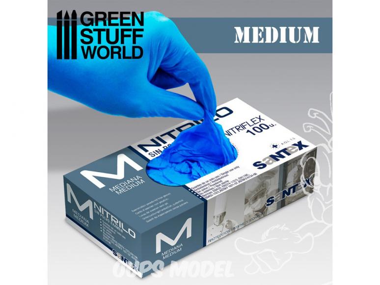 Green Stuff 26690 Gants en Nitrile taille Moyen 7-8