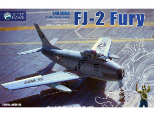 "Kitty Hawk maquette avion KH80155 NORTH AMERICAN FJ-2 ""FURY"" - 1955 1/48"