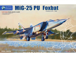 "Kitty Hawk maquette avion KH80136 MIG-25PU ""FOXBAT C"" 1990 1/48"