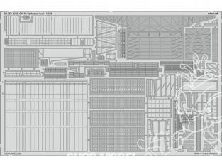 Eduard photodecoupe bateau 53251 USS CV-10 Yorktown Pont Trumpeter 1/350