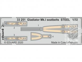 Eduard photodécoupe avion 33251 Harnais métal Gladiator Mk.I Icm 1/32