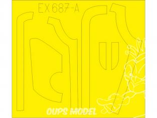 Eduard Express Mask EX687 B-17G Antiglare panels (DL & BO Production) Hk Models 1/48
