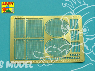 Aber 35G36 Grilles pour Sd.Kfz.173 Jagdpanther Ausf.G1 et G2 early pour kit Takom 1/35