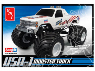 Amt maquette voiture 0672 Monster Truck USA-1 Snap-It 1/32