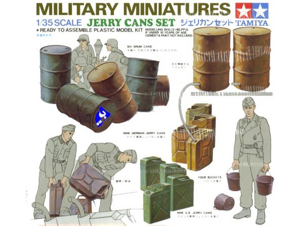 tamiya maquette militaire 35026 set bidons d&39essence 1/35