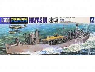 Aoshima maquette bateau 12116 Hayasui Bateau ravitaillement I.J.N. Water Line Series 1/700