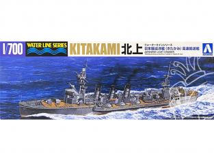 Aoshima maquette bateau 54741 Kitakami Croiseur léger I.J.N. Water Line Series 1/700