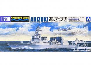 Aoshima maquette bateau 07877 Akizuki Bateau de défense J.M.S.D.F. Water Line Series 1/700