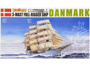 Aoshima maquette bateau 42601 Danmark 3 Mâts 1/350