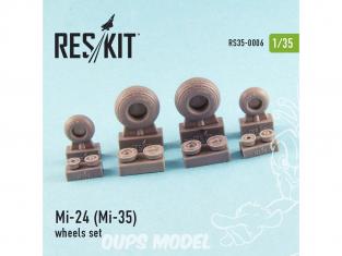 ResKit kit d'amelioration Helico RS35-0006 Ensemble de roues Mi-24 (Mi-35) 1/35