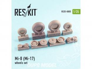 ResKit kit d'amelioration Helico RS35-0005 Ensemble de roues Mi-8 (Mi-17) 1/35