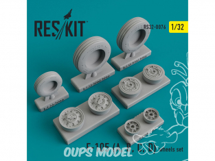 ResKit kit d'amelioration Avion RS32-0076 Ensemble de roues F-105 (A, B, C, D) Thunderchief 1/48