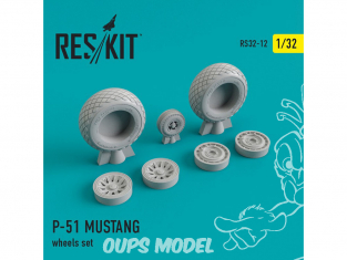 ResKit kit d'amelioration Avion RS32-0012 Ensemble de roues P-51 MUSTANG 1/48