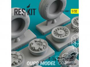 """ResKit kit d'amelioration Avion RS32-0007 Ensemble de roues F-14 (D) """"Tomcat"""" 1/48"""