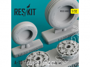 """ResKit kit d'amelioration Avion RS32-0002 Ensemble de roues A-10 """"Thunderbolt"""" 1/48"""