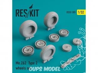 ResKit kit d'amelioration Avion RS32-0205 Ensemble de roues Me.262 Type 2 1/48