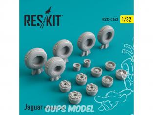 ResKit kit d'amelioration Avion RS32-0163 Ensemble de roues Sepecat Jaguar 1/48